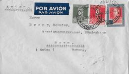 ARGENTINA → Par Avion, Letter Posadas To Switzerland ►STAMP GRAL JOSE DE SAN MARTIN HEAD 1935◄ - Argentine