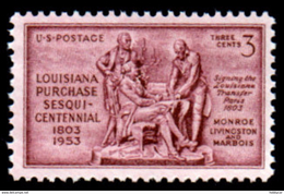 United States  1953 Scott # 1020, Louisiana Purchase, 3c MNH This Is A Stock Photo - Unused Stamps