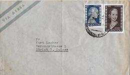 ARGENTINA → Via Aerea, Letter To Switzerland ►Stamp Eva Peron 1953◄ - Argentine