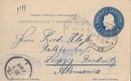 REPUBLICA  ARGENTINA → Carte Postale 6 Centavos To Alemania 1900 - Entiers Postaux