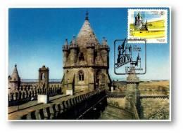 ÉVORA - Catedral - Torre Da Lanterna - MAXIMAFILIA TURISMO - 17.09.1980 - PORTUGAL - CARTE MAXIMUM - MAXICARD - Tarjetas – Máximo