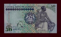LESOTHO LESOTO 50 Maloti 1992 P-14 UNC RARE NOTE SOUTH AFRICA EAST EQUATORIAL - Lesoto