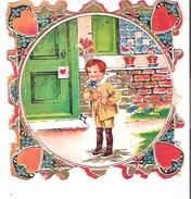 "Valentine Card Some Wear 5.5"" X 5.2""  13 Cm X 14 Cm - Picture Cards"