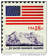 USA 1981 Flag Over Mountain Booklet Stamp Sc#1893 Post Mount