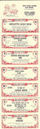 Gold Dust Casino - Reno, NV - 10.5 X3.54 Inch Paper Coupon Sheet With 7 Coupons - Advertising