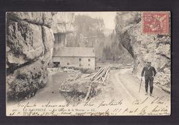CPA 38 - LA BOURNE - LE DAUPHINE - Les Gorges De La Bourne - ANIMATION + BOIS SCIERIE ? CP Voyagée 1904 - Altri Comuni