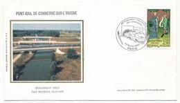 """FRANCE - Enveloppe Cachet Temporaire """"45eme Exposition Cheminots Philatélistes"""" Paris 1992 - Trains"""