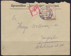 Yugoslavia Kingdom SHS Slovenia 1919 Verigari (Chain-breakers), Letter From Ljubljana To Zagreb - 1919-1929 Kingdom Of Serbs, Croats And Slovenes
