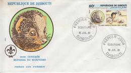 Enveloppe  FDC  1er  Jour   DJIBOUTI     28éme  Congrés  Mondial  Du   Scoutisme    1981