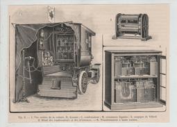 Voiture Radiographique Gaiffe Panhard Manoeuvres Est Poyet 1904 Ambulance Détaillée Rare - Militaria