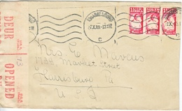 SOUTH  AFRICA  CENSORED  COVER  (o) - South Africa (...-1961)