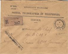 WWII- 1940- Enveloppe RECC   Des P.T.T.  Secteur Postal * 74 *   82è Division D'Afrique - Storia Postale