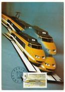 FRANCE - Carte - Première Liaison Paris Lyon PLM Par Rame Postale TGV - 1984 - Trains
