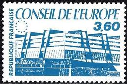 France 1987 - Official : Building Of The Council Of Europe ( Mi CE 44 - YT S97 ) MH* - Service