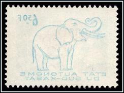Sud Kasai 16cu**  Eléphant  Surcharge Recto-verso  MNH