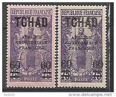 TCHAD N° 32 X 2 NUANCES NEUF** LUXE - Unused Stamps