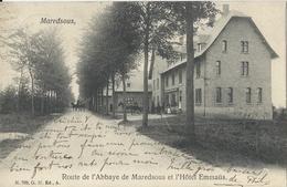 Maredsous,    Route De L'Abbaye De Maredsous Et L'Hôtel Emmaüs.  -  Prachtige Kaart:  1905   Maredret   Naar   Anvers