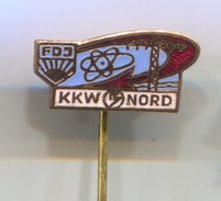 FDJ, KKW NORD -  Vintage Pin, Badge, Abzeichen, Enamel - Ohne Zuordnung