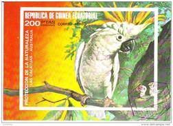 74187 Guinea Equatoriale 1973 Birds Pappagalli LAS CACATUAS Parrots Perroquets Loros