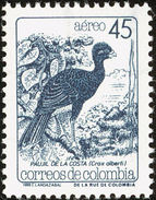 Colombie. Colombia. 1988.   Blue-billed Curassow    Crax Alberti