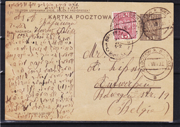 Pologne - Carte Postale De 1935 - Entier Postal - Oblit Zloczew Sieradza - Expédié Vers Anvers En Belgique - 1919-1939 Republic