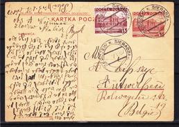 Pologne - Carte Postale De 1937 - Entier Postal - Oblit Zloczew Sieradza - Expédié Vers Anvers En Belgique - 1919-1939 Republic