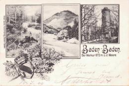 ALTE  AK  BADEN-BADEN / BW  - Der Merkur - 1900 Beschriftet