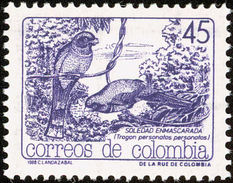 Colombie. Colombia. 1988.   Masked Trogon    Trogon Personatus