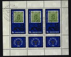 UNGARN - Kleinbogen Mi-Nr. 2981 Internationale Briefmarkenausstellung STOCKHOLMIA '74 Gestempelt