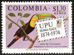 Colombie. Colombia. 1974   Keel-billed Toucan    Ramphastos Sulfuratus