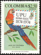 Colombie. Colombia. 1974   Scarlet Macaw    Ara Macao