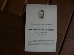 Image Pieuse Religieuse Holly Card Avis Deces Comte Arthur Marie Alain De Maigret