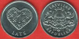 """Latvia 1 Lats 2011 """"Gingerbread Heart"""" UNC - Latvia"""