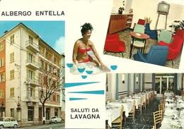 Lavagna (Genova, Liguria) Corso Buenos Aires, Albergo Entella, Vedute Esterne Ed Interne - Italia