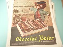 ANCIENNE PUBLICITE CHOCOLAT TOBLER - Posters