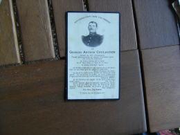 Image Pieuse Religieuse Holly Card  Avis Deces Soldat 170 Infanterie 1915 N D Lorette Guerre 14.18