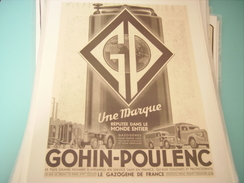 ANCIENNE PUBLICITE  UNE MARQUE GOHIN-POULENC CAMION - TRACTEUR 1942 - Trattori