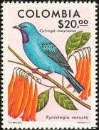 Colombie. Colombia. 1977 Plum-throated Cotinga    Cotinga Maynana