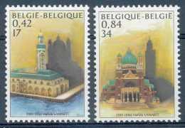 NB- Belgique 2001, Mosquée Et Basilique, émission Commune Avec Le Maroc