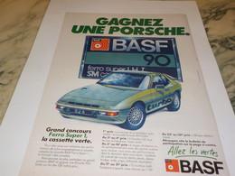 ANCIENNE PUBLICITE  PORSCHE SPORTOMATIC SONAUTO  Et Basf 1979 - Publicités