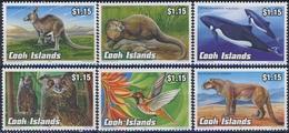 MDA-BK1-388 MDB MINT ¤ COOK ISLANDS 1992 6w In Serie ¤ BUTTERFLY - ANIMALS - MAMMALS - ANIMALS OF THE WORLD