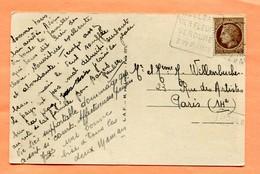 M1  DAGUIN  TEXTE A GAUCHE HOULGATE SUR CERES BRUN 2.5 F - Postmark Collection (Covers)