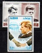 """R168 - AJMAN  1968 , Emissione """" Fratelli Kennedy  """"  Michel 299 + Aerea  ***"""