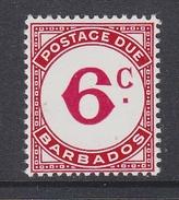 Barbados 1974 Postage Due 6c Value ** Mnh (34859A)