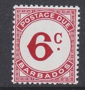 Barbados 1974 Postage Due 6c Value ** Mnh (34859B)