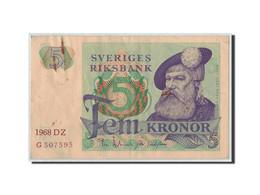 Suède, 5 Kronor, 1968, KM:51a, TB - Suecia