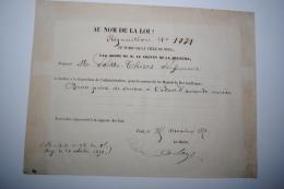 Ordre De Réquisition Ville De Toul Pour Du Savon Occupation Allemande Pour Sa Majesté Le Roi Guillaume - Documents