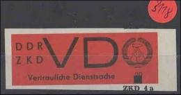 DDR Zentraler Kurierdienst  Postfrisch  MiNr. 3      Mit Überdruck