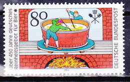 Timbre-poste Neuf** - 450ème Anniversaire De La Législation Sur La Pureté De La Bière - N° 1011 (Yvert) - RFA 1983 - [7] République Fédérale