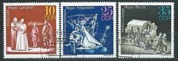 DDR  1973  Mi 1850 - 1852  Bedeutende Theaterinzenierungen  Gestempelt